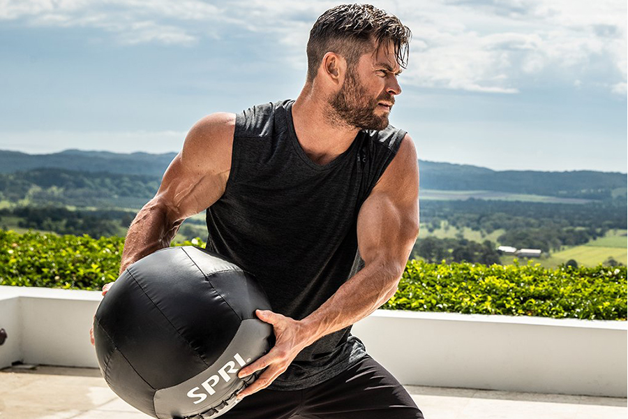 working out is fun with Chris Hemsworth